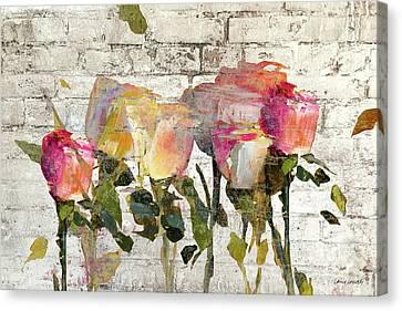 Long Stems On Brick Canvas Print