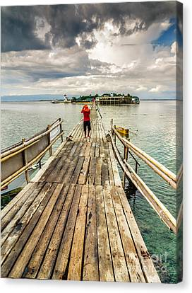 Long Walk Canvas Print by Adrian Evans