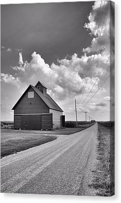 Illinois Barns Canvas Print - Long Way Home by Tom Druin