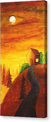 Long Way To Home Canvas Print by Nirdesha Munasinghe