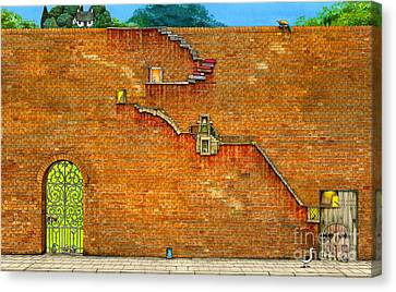 Long Way To The Top Canvas Print by Colin Thompson