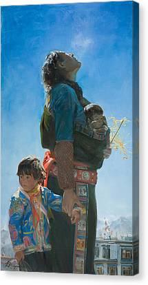 Long Way Canvas Print by Victoria Kharchenko