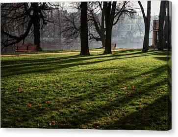 Vltava Canvas Print - Long Winter Shadows by Joan Carroll