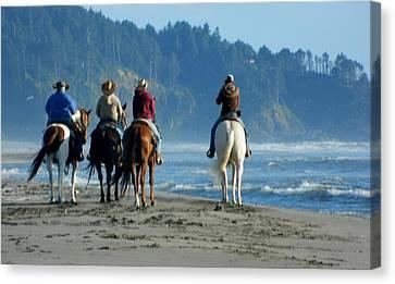 Longbeach Horses Canvas Print