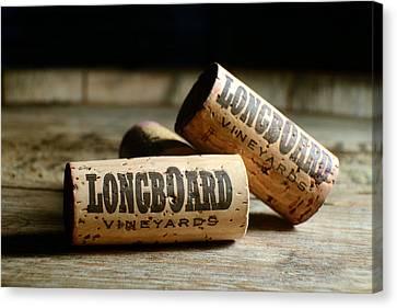 Longboard Corks Canvas Print by Jon Neidert