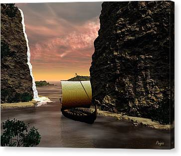 Longboat Canvas Print by John Pangia
