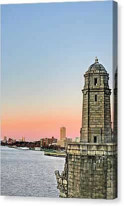 Longfellow Bridge Tower Canvas Print by JC Findley