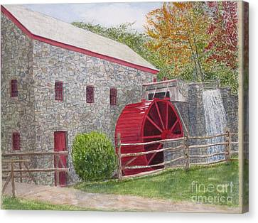 Longfellow's Gristmill Canvas Print by Carol Flagg