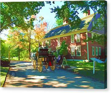 Rose Cottage Gallery Canvas Print - Longfellows Wayside Inn by Barbara McDevitt