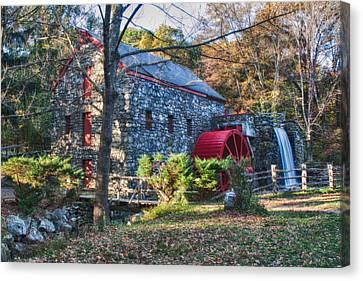 Longfellow's Wayside Inn Grist Mill In Autumn Canvas Print