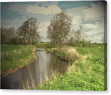 Longford Brook, Looking In The Direction Of Hill Top Farm Canvas Print