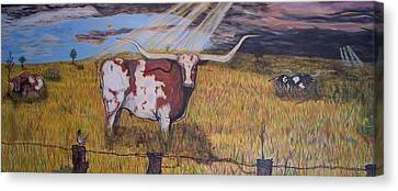 Longhorn Storm Canvas Print by Jose Cabral