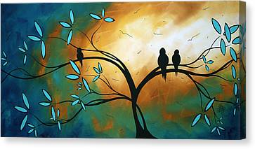 Longing By Madart Canvas Print by Megan Duncanson