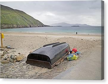 Longing For A Journey Keem Beach Ireland Canvas Print