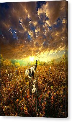 Picnic Table Canvas Print - Longing To Return by Phil Koch