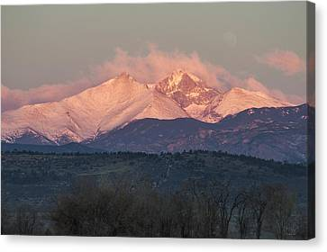 Longs Peak 1 Canvas Print by Aaron Spong