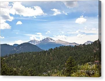 Longs Peak Canvas Print by Kay Pickens