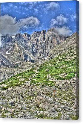 Longs Peak Trail Canvas Print by Twain and Denise Wilkins
