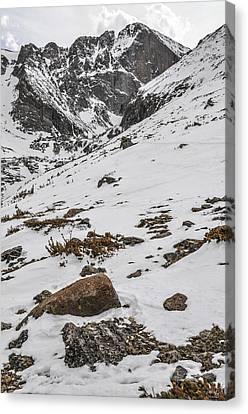 Longs Peak -  Vertical Canvas Print