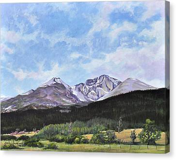 Longs Peak Vista Canvas Print by Craig T Burgwardt