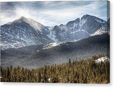 James Insogna Canvas Print - Longs Peak Winter View by James BO  Insogna