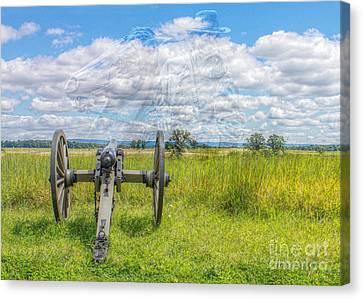 Longstreet Returns To Gettysburg Canvas Print by Randy Steele