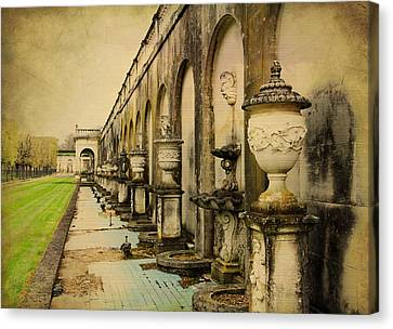 Canvas Print featuring the photograph Longwood Gardens Fountains by Trina  Ansel