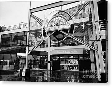 lonsdale quay market shopping mall north Vancouver BC Canada Canvas Print by Joe Fox