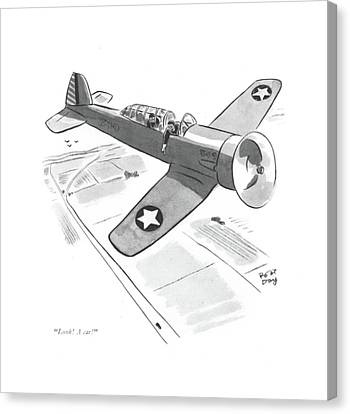 Marine Canvas Print - Look! A Car! by Robert J. Day