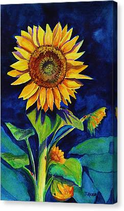 Midnight Sunflower Canvas Print