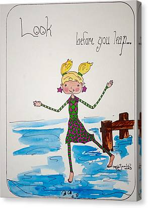 Look Before You Leap Canvas Print by Mary Kay De Jesus