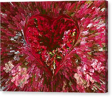 Look Deep Into My Heart Canvas Print