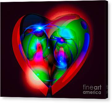 Look Inside My Heart Canvas Print by Gayle Price Thomas