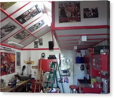 Look Inside Studio Work Shop Canvas Print