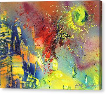 Look Look Up In The Sky Canvas Print by Michael Cicirelli