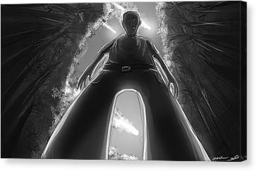 Look Out Says The Ant Canvas Print by Sasank Gopinathan