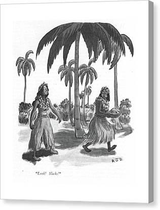 Look! Slacks! Canvas Print by Robert J. Day
