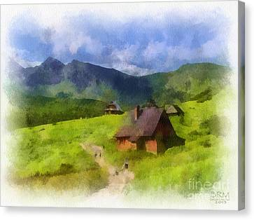 Look To The Hills Canvas Print by Barbara R MacPhail