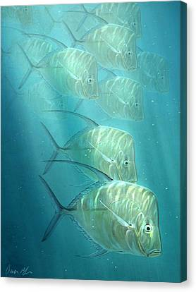 Tropical Fish Canvas Print - Lookdowns by Aaron Blaise