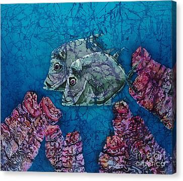 Lookdowns Pair Canvas Print by Sue Duda
