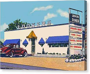 Lookers Diner In Rutland Vt Around 1940 Canvas Print