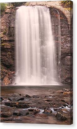 Lookging Glass Falls Canvas Print by Tyson and Kathy Smith