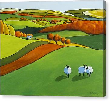 Looking At Ewe Canvas Print by Jo Appleby