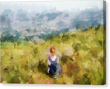 Looking At Hk From The Hills Canvas Print by Yury Malkov
