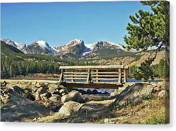 Looking At Longs Peak Colorado Canvas Print