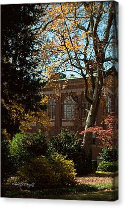 Looking Back At The Martin Chemistry Lab - Davidson College Canvas Print by Paulette B Wright