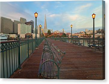 Canvas Print featuring the photograph Looking Back by Jonathan Nguyen