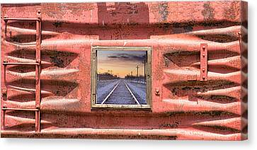 Looking Back Panorama Canvas Print