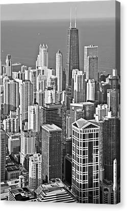 Looking Down At Beautiful Chicago Canvas Print by Christine Till