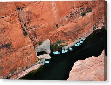 Looking Down At Glen Canyon  Canvas Print